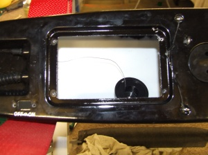 Servo tray removed showing unpainted hull.